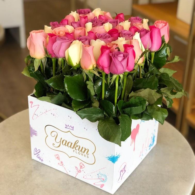 49 rosas altas te quiero en caja edición especial yaakun