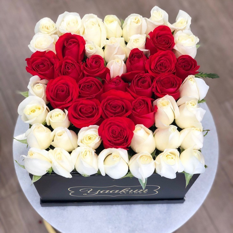 49 rosas love en caja