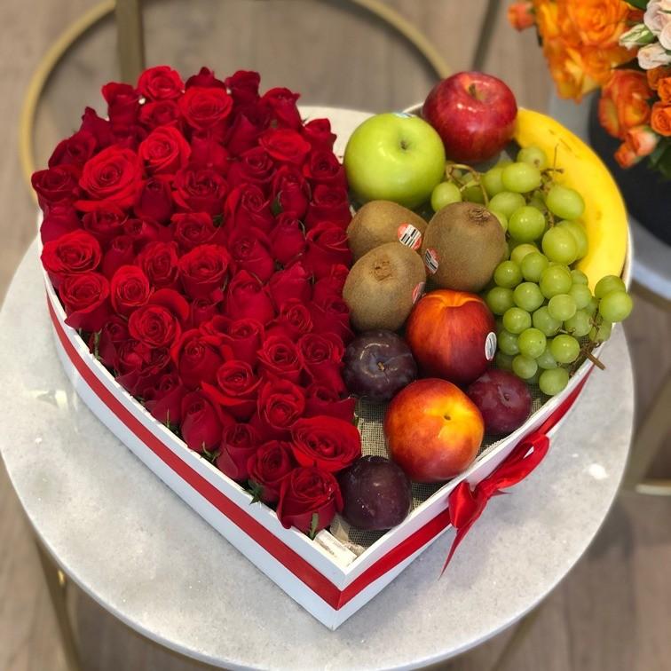 Caja corazón amor frutal