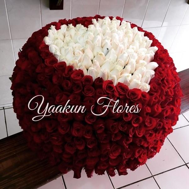 Canasta de 500 rosas maxi esfera mi amor