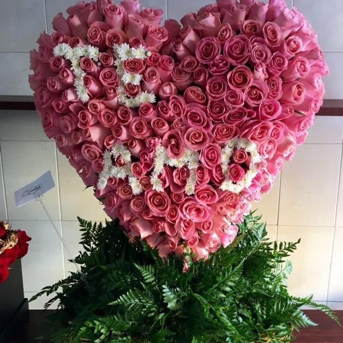 CorazÓn de 200 rosas en canasta corazÓn te amo hermosa