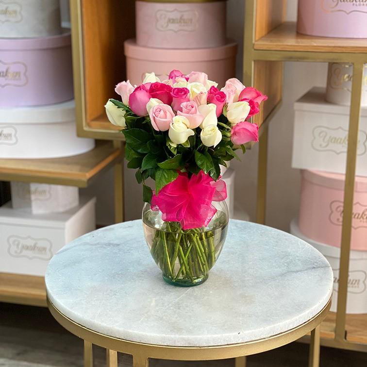 Florero con 36 rosas te quiero mucho