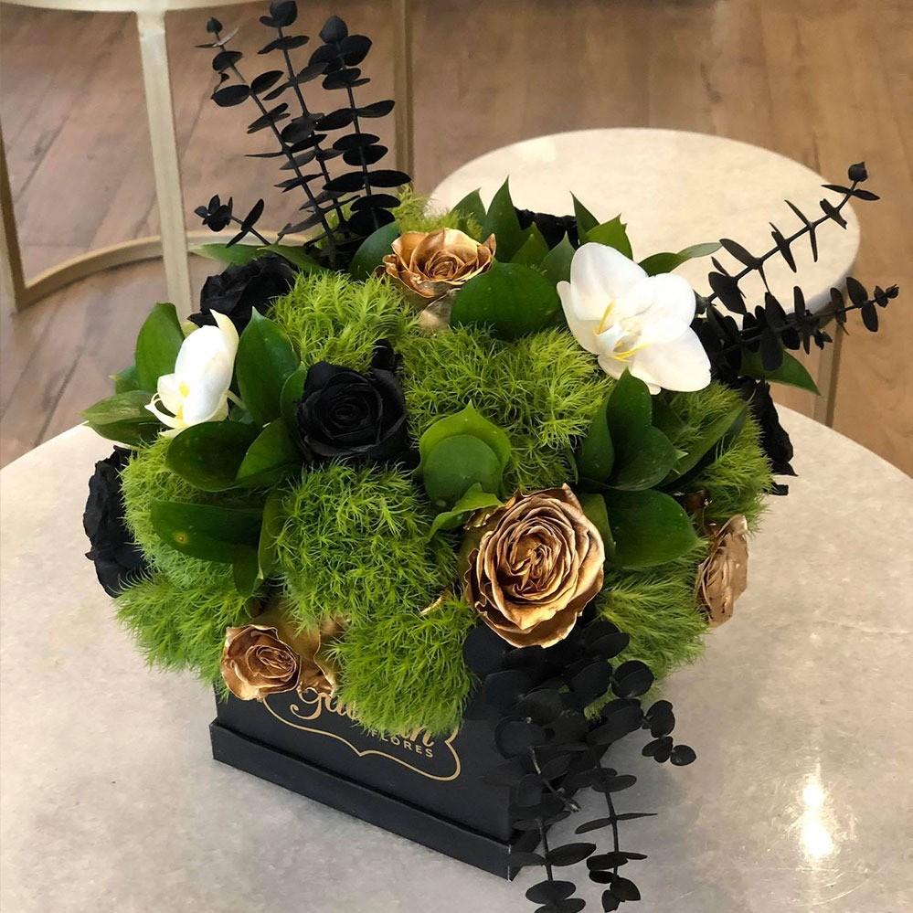 Mini caja yaakun negra elegant