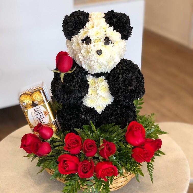 Osito panda enamorado