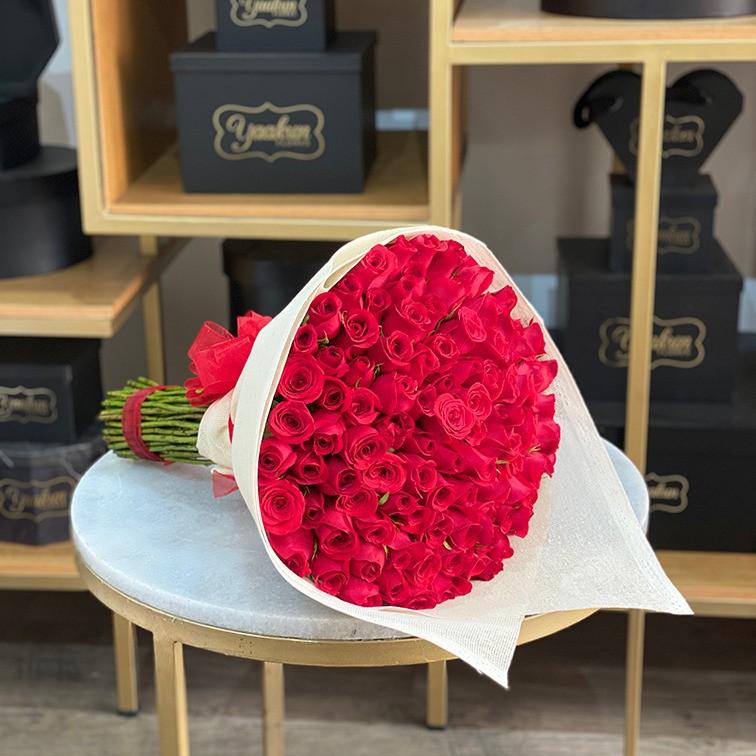 Ramo de 100 rosas amor mío