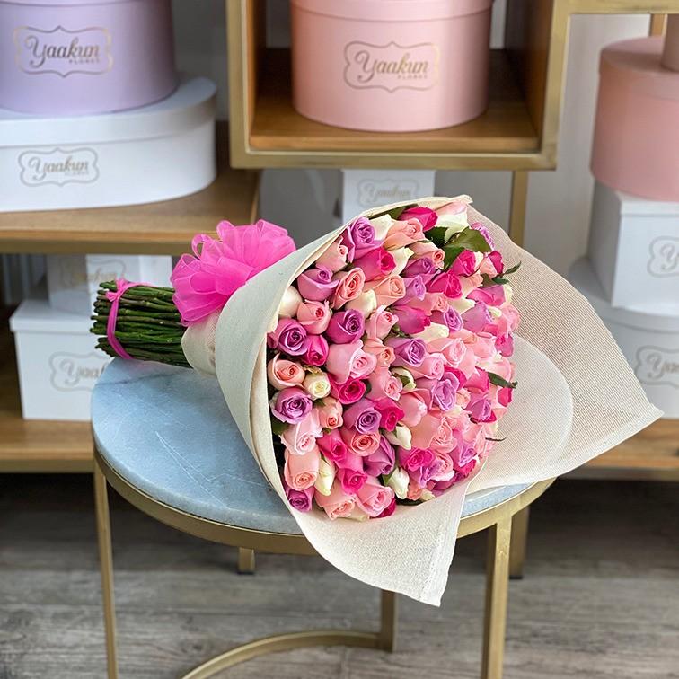 Ramo de 100 rosas te quiero