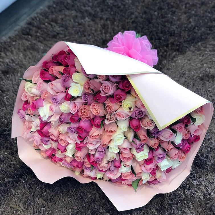 Ramo de 250 rosas romántico