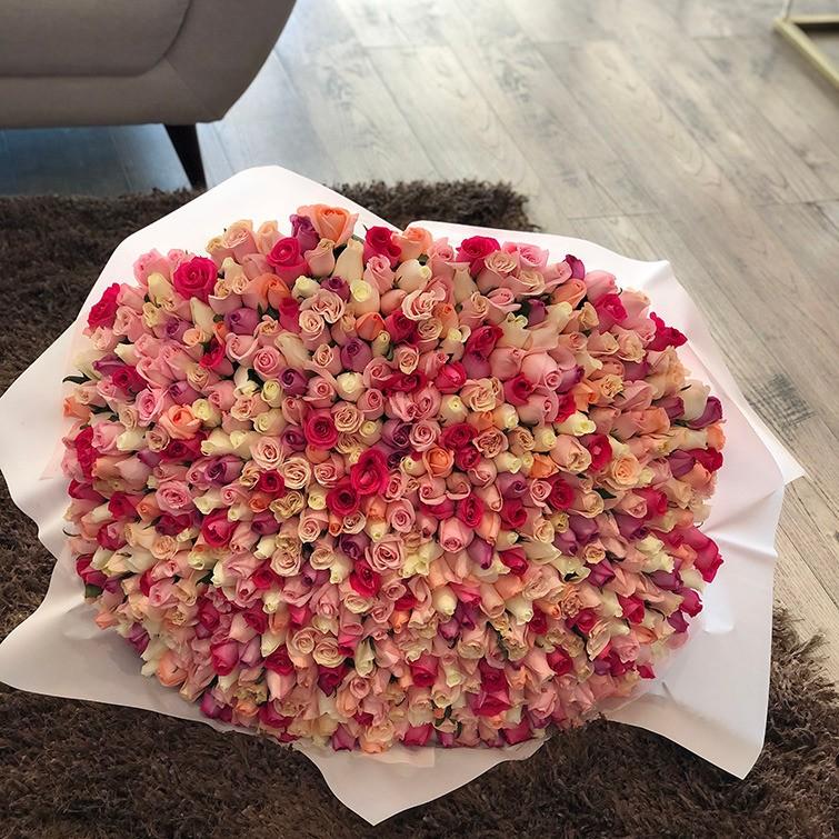 Ramo de 500 rosas te quiero mucho