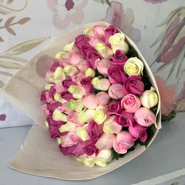 Ramo de 75 rosas te quiero